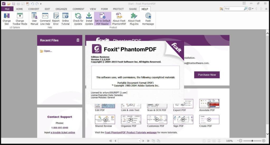 Phần mềm ghép pdf Foxit PhantomPDF