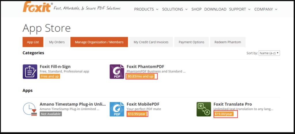 Phần mềm gộp file pdf Foxit Reader online