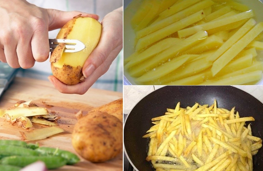 Tiến hành sơ chế khoai tây