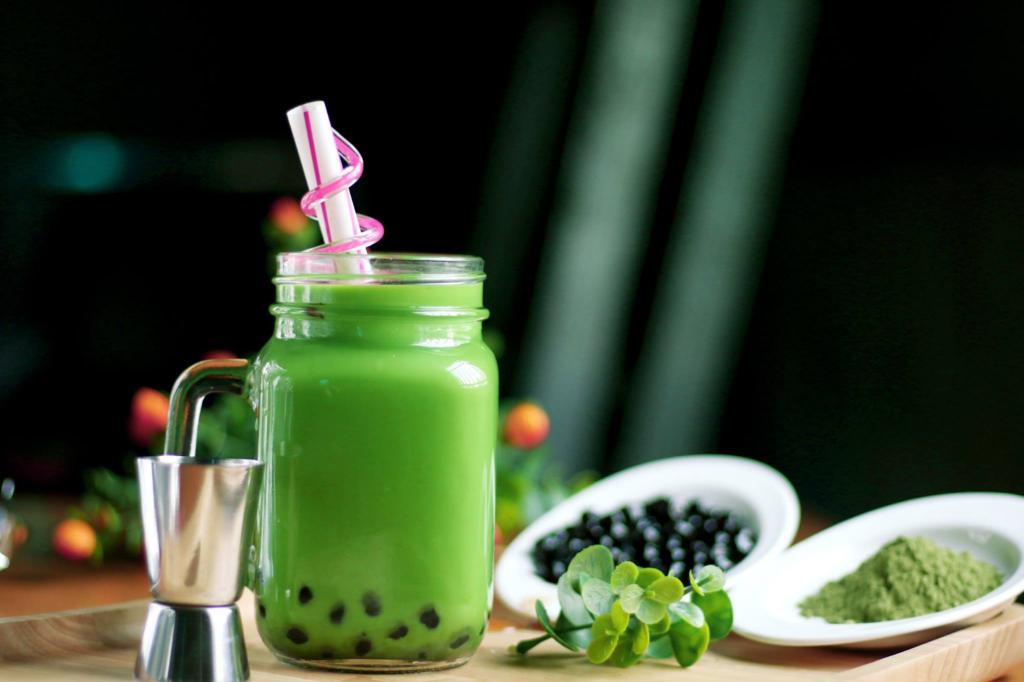 Trà sữa bằng bột trà xanh bổ dưỡng