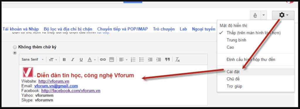 Cách taho chữ ký gmail đơn giản nhất