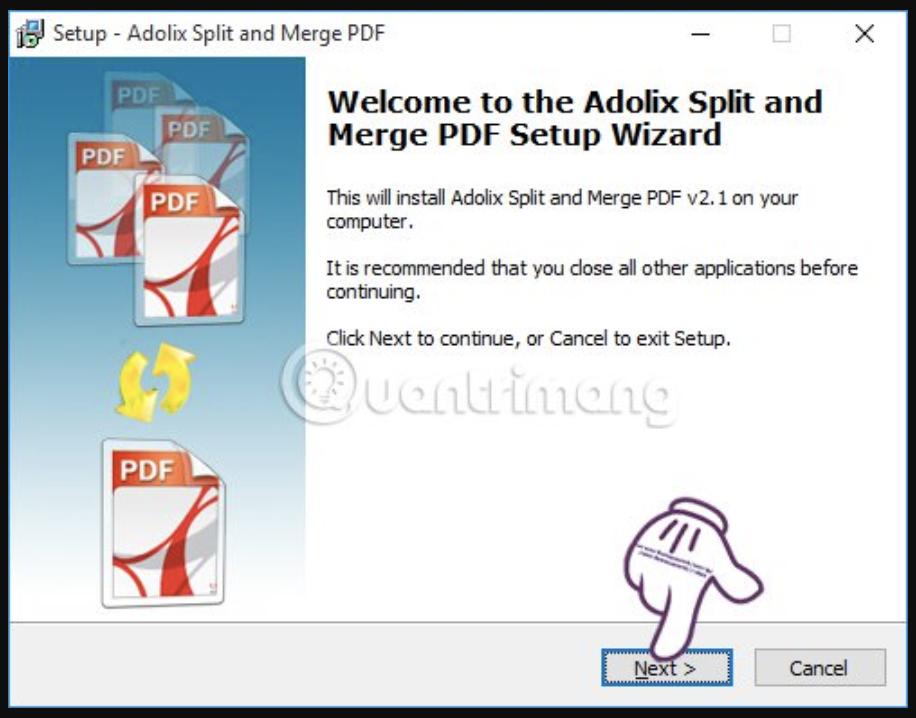 Ghép file PDF bằng Adolix Split and Merge PDF - Bước 1
