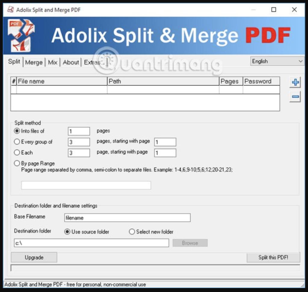 Ghép file PDF bằng Adolix Split and Merge PDF - Bước 2