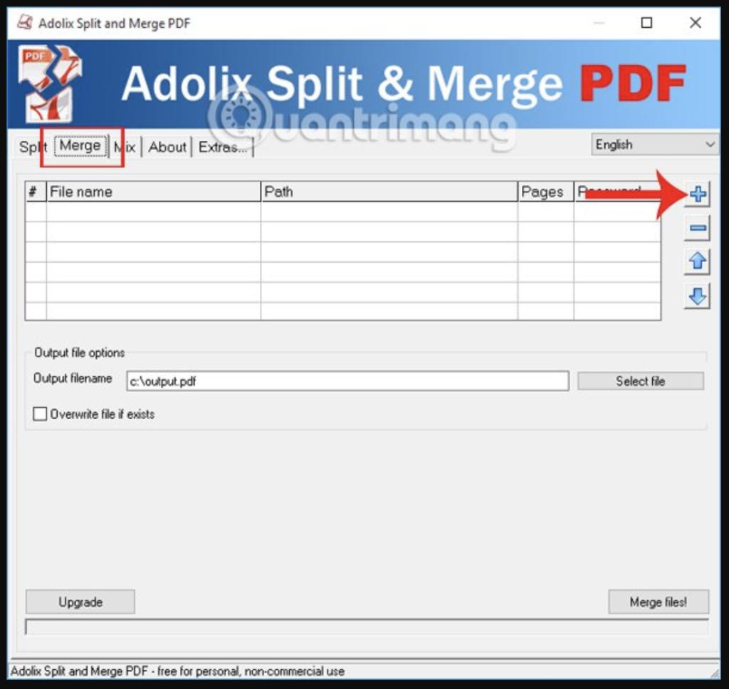Ghép file PDF bằng Adolix Split and Merge PDF - Bước 3