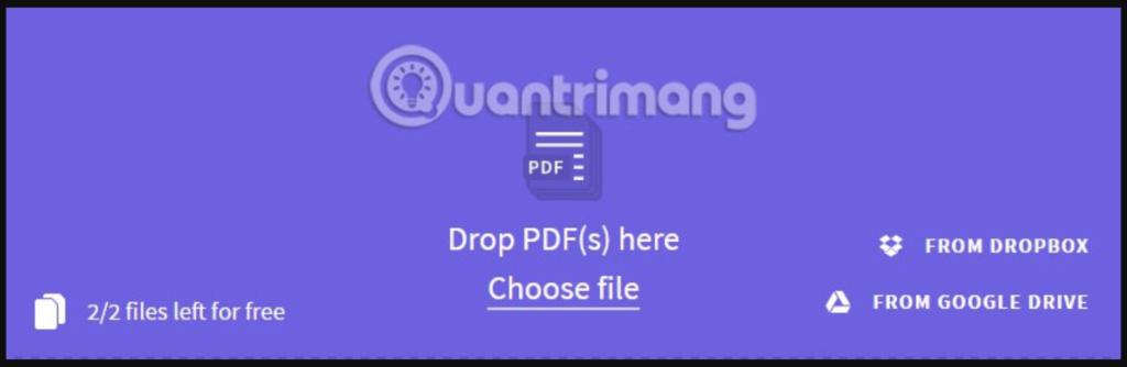 Gộp file pdf bằng smallpdf Merge