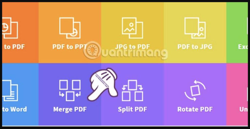 Gộp file pdf bằng công cục Smallpdf online