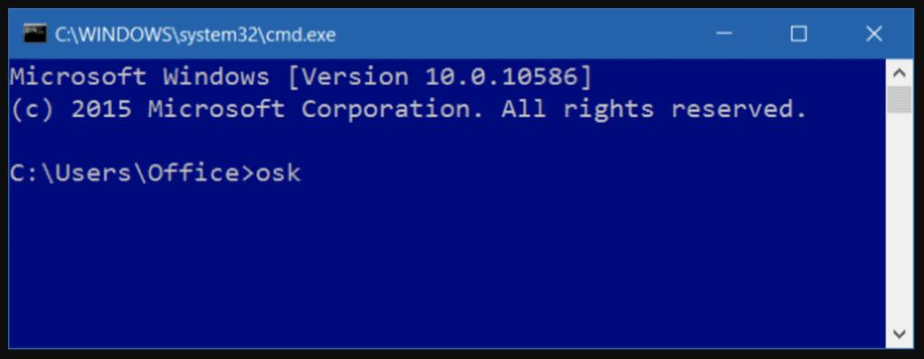 Thao tác mở bàn phím bằng Command Prompt hoặc PowerShell trên win 10