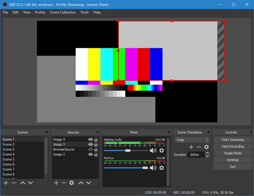 Phần mềm OBS studio