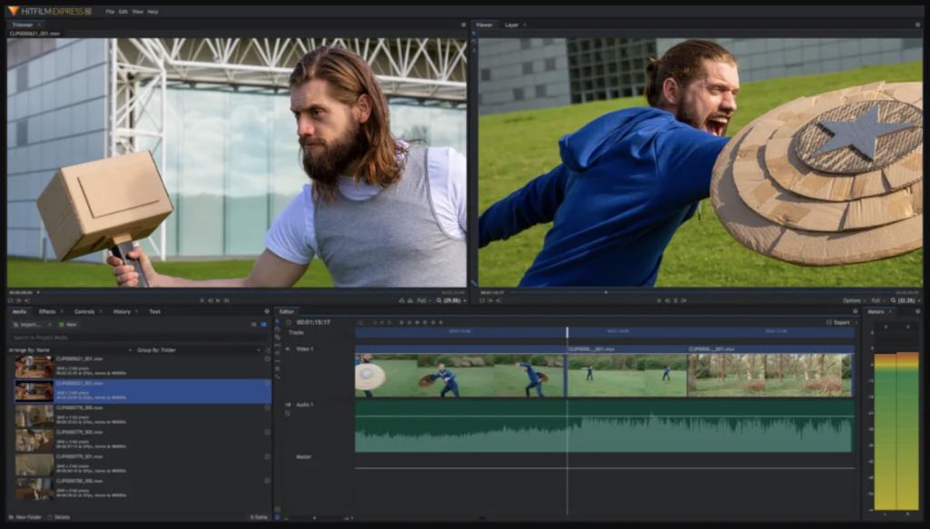 Phần mềm tinh chỉnh video HitFilm Express