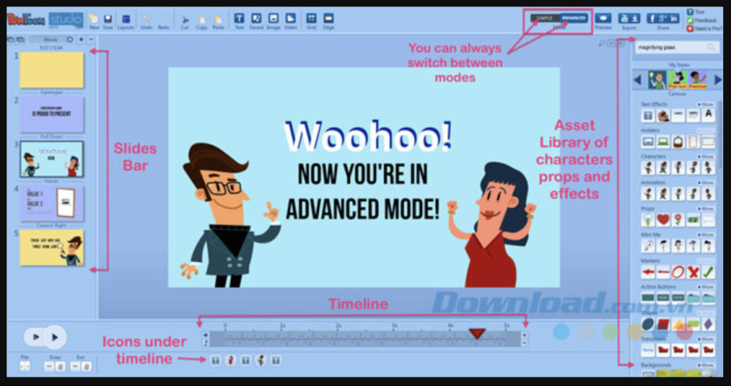 Phần mềm chỉnh sửa video Powtoon đơn giản