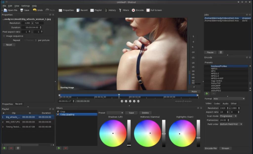 Phần mềm giúp chỉnh sửa video Shotcut