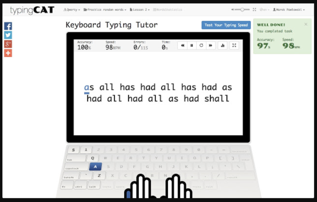 Phần mềm typing cat