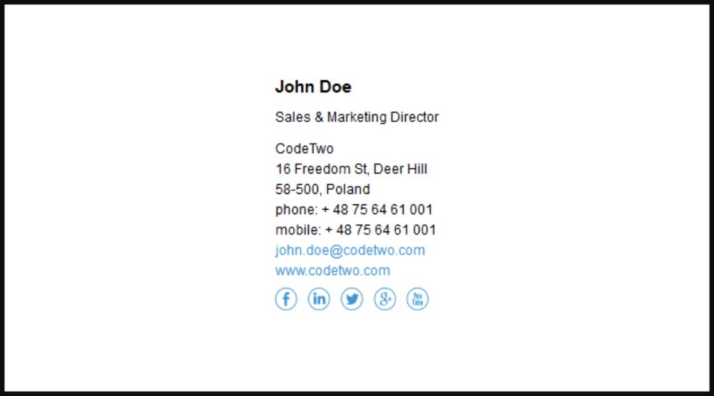 Thiết kế mẫu chữ ký gmail dễ đọc và dễ nhìn
