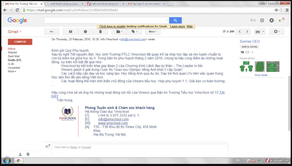 Vai trò của chữ ký gmail với doanh nghiệp
