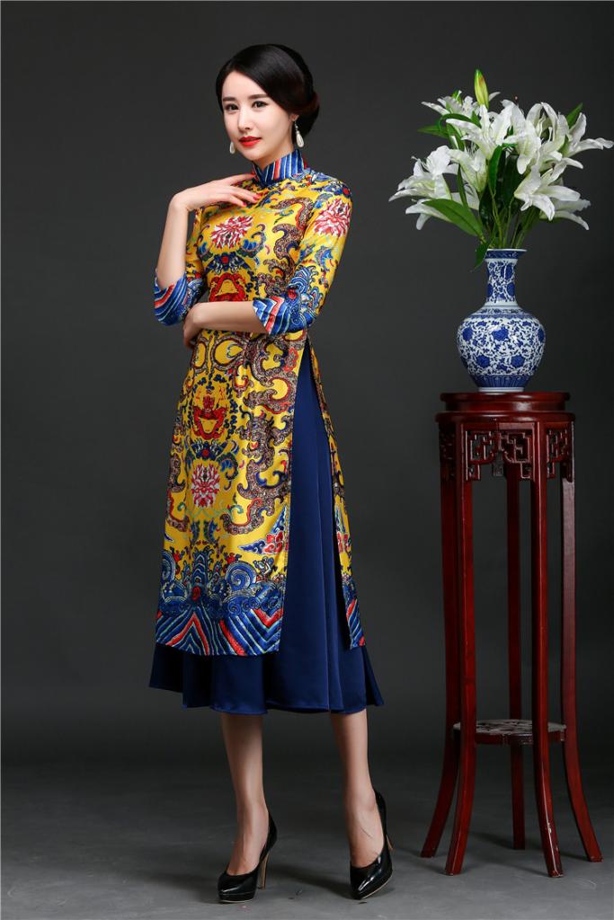 Khi may áo dài cách tân cần dựa theo form dáng người mặc