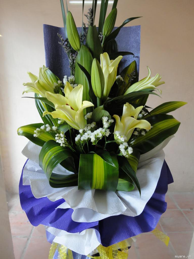 Những bó hoa bách hợp để tặng nhau những dịp quan trọng