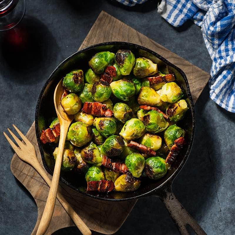 Thay thế chuối xanh bằng cải non cũng giúp món ăn thơm ngon