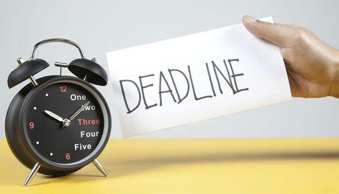 Deadline là thời hạn cần hoàn thành công việc