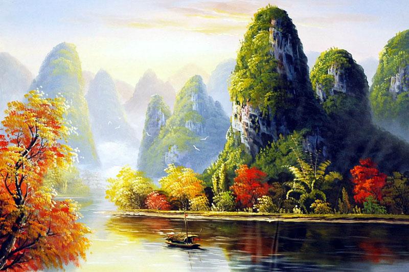 Hai điểm nhấn trong tranh phong cảnh cần có sự cạnh tranh giữa nhau