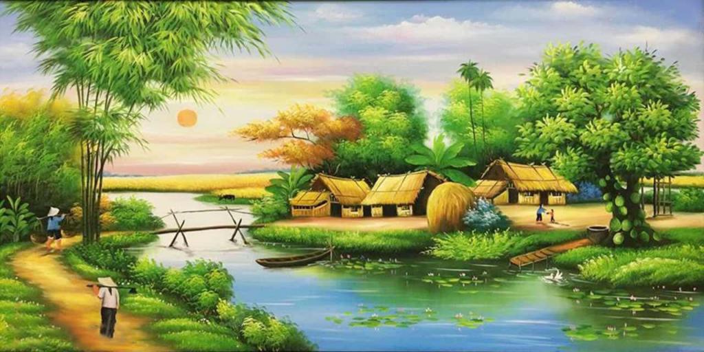 Tranh phong cảnh chủ yếu tập trung vào phong cảnh