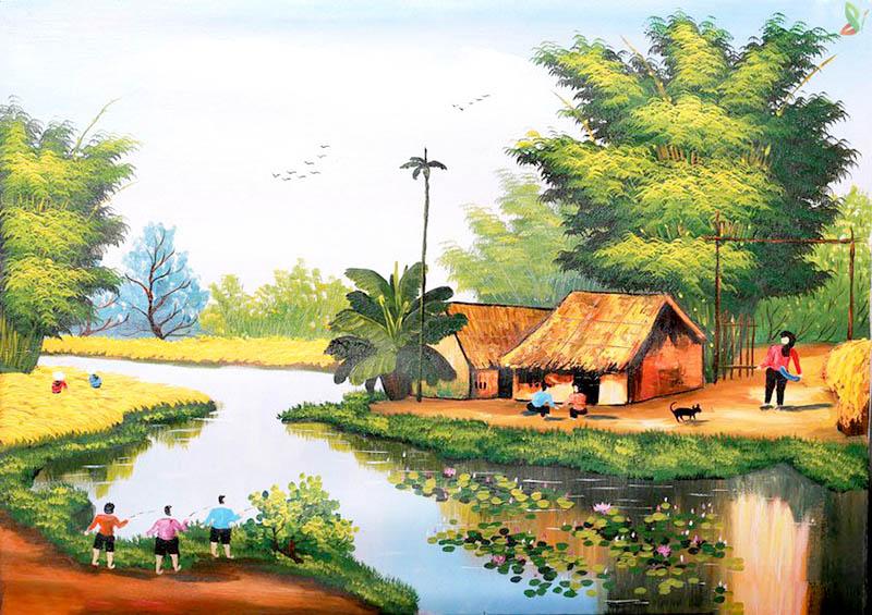Vẽ tranh phong cảnh là đưa hình ảnh của thiên nhiên vào tranh