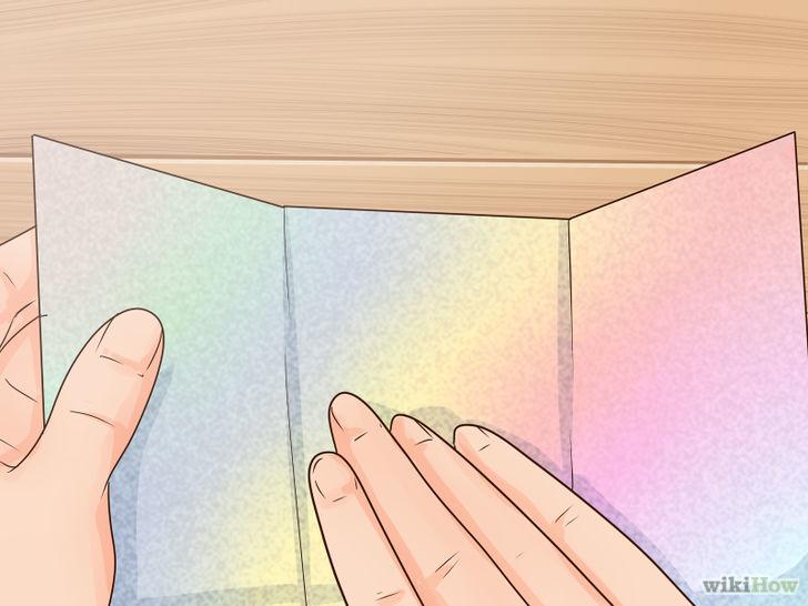 Gấp giấy thành 3 phần bằng nhau thật đều tay
