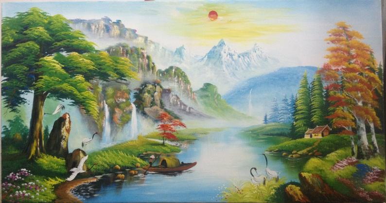 Chuẩn bị đầy đủ dụng cụ vẽ tranh phong cảnh