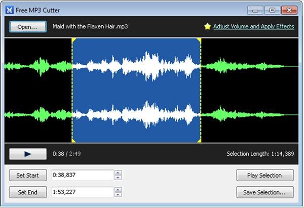 Phần mềm còn có thể trích âm thanh từ một đoạn video
