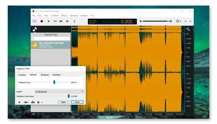 Phần mềm Ocenaudio được rất nhiều người sử dụng hiện nay