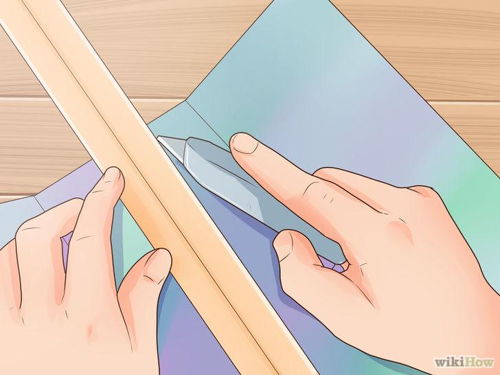 Tạo hình cửa sổ ở giữa khung giấy thứ hai