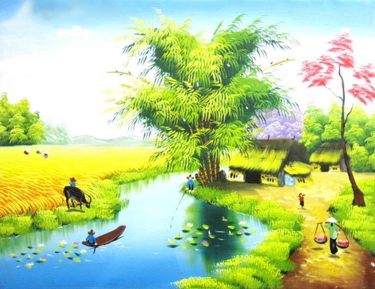 Tranh phong cảnh đồng quê mang nhiều ý nghĩa khác nhau