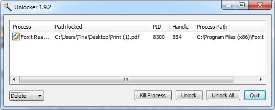 Xóa file bằng một ứng dụng thứ 3