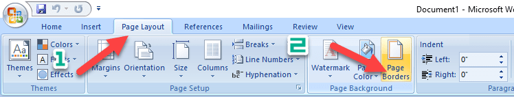 Tạo mẫu bìa trong Word bằng công cụ Page Border