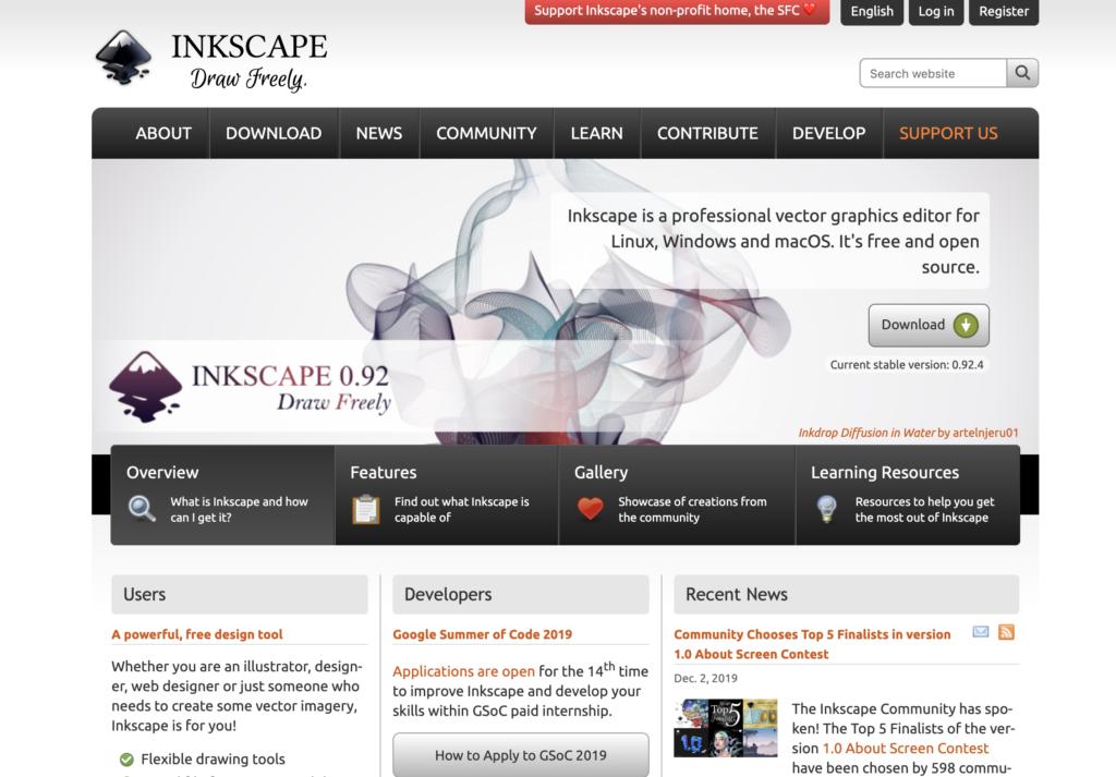 Inkscape là phần mềm được sử dụng phổ biến