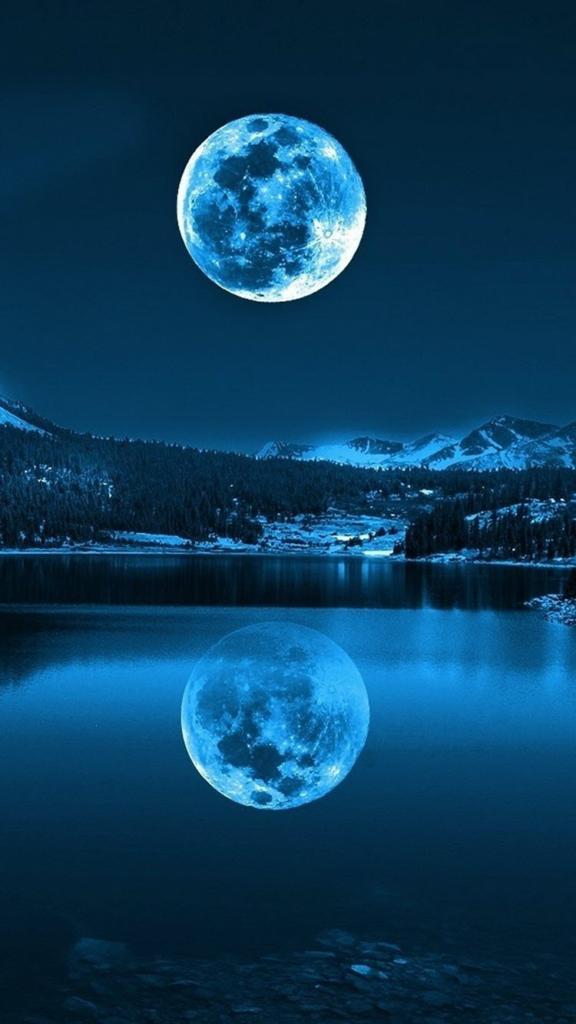 Mẫu hình nền mặt trăng cho điện thoại