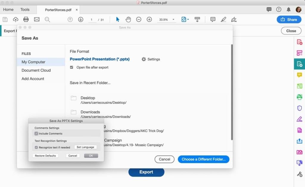 bạn có thể cài đặt tệp của mình, đặt tên, chọn vị trí lưu tệp và ấn Save.