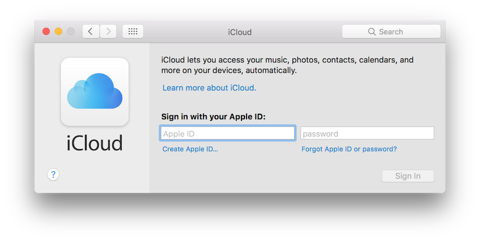 Nhập tài khoản Apple và nhấn nút Sign In