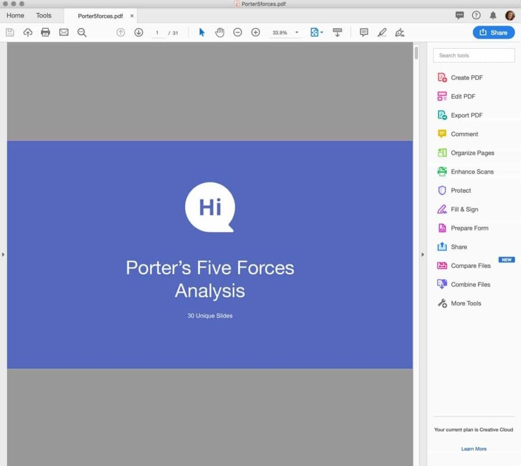 Mở phần mềm phần mềm Adobe Acrobat