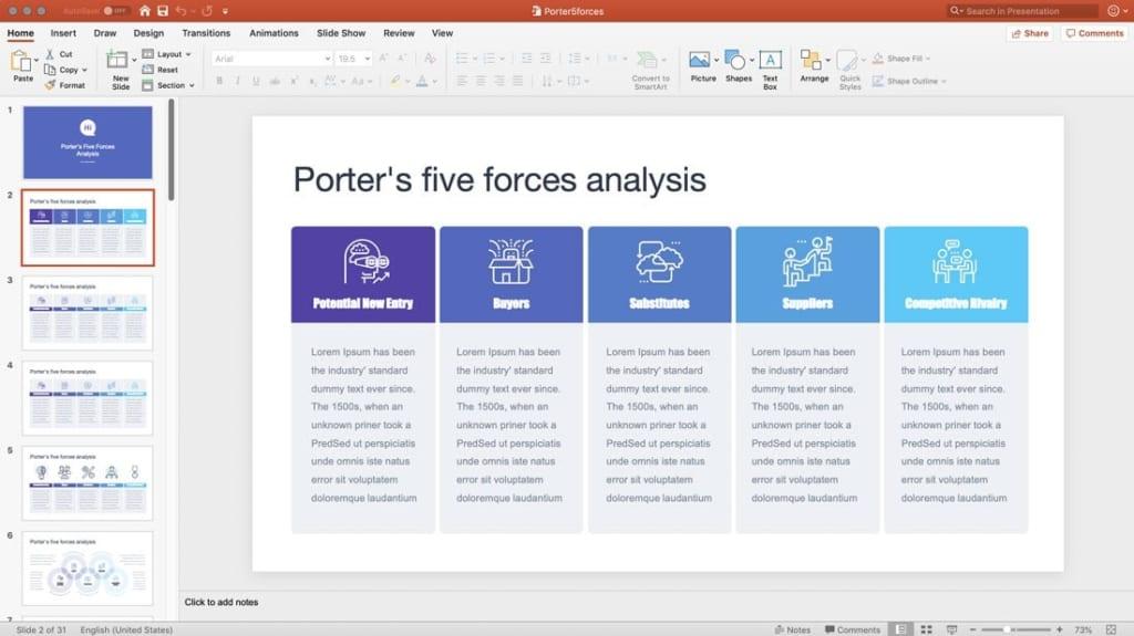 Thực hiện các thao tác với tệp vừa chuyển đổi trong PowerPoint