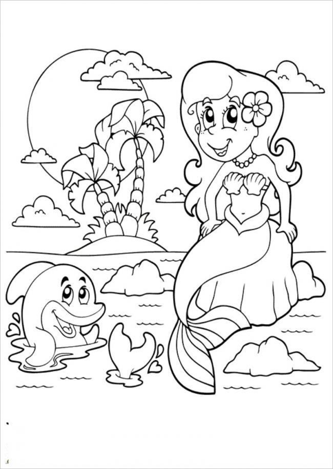 Tranh nàng tiên cá và con cá heo