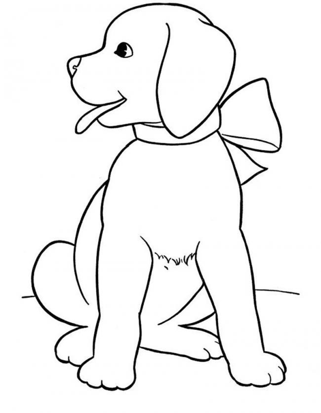 Tranh tô màu con chó