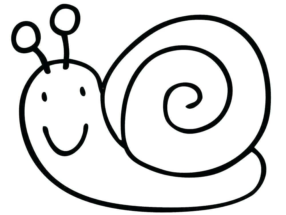 Tô màu con ốc sên đơn giản
