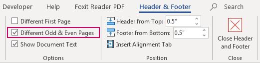 Cách tạo Header footer