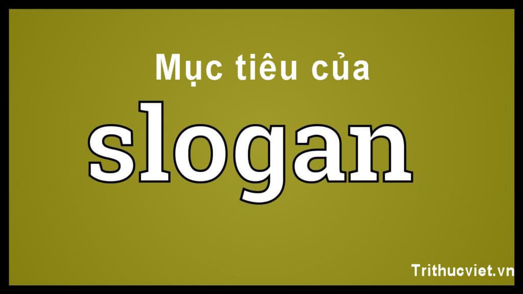 Mục tiêu cơ bản slogan